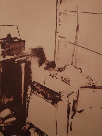 Atelier,80x60cm,akril na platnu,2009.
