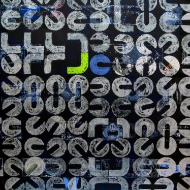 diskobolos, 140x140, akrilik na platnu, 2005.
